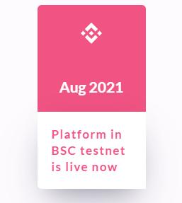 Platform in BSC testnet is live